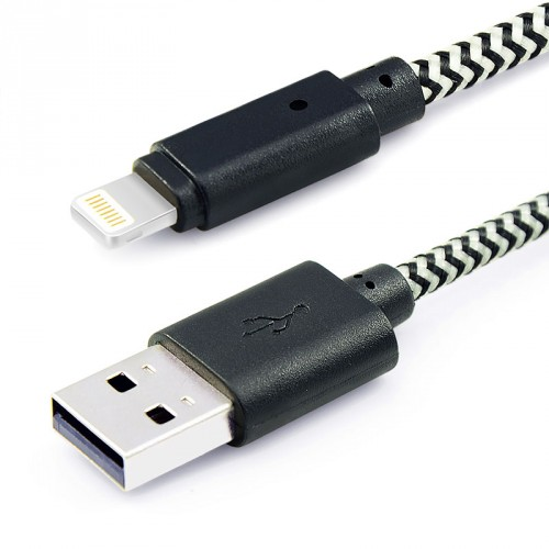 Lighting Charge and Sync Cable Black Color