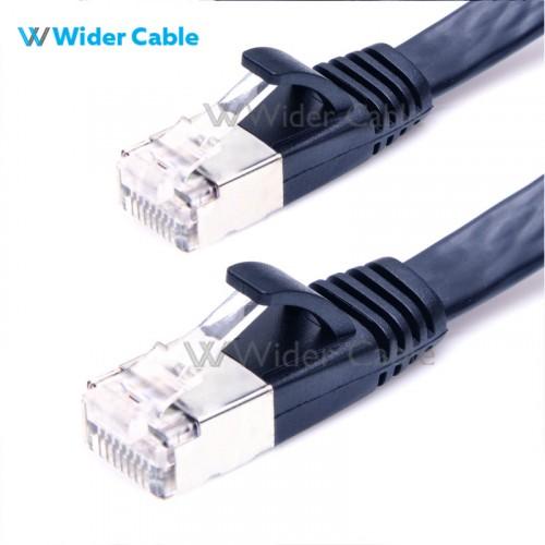 Super Flat CAT7 Ethernet Network Patch Cable Black Color