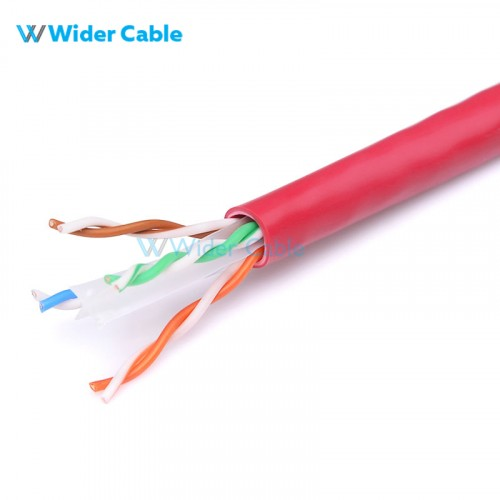 1000FT 23AWG CAT.6 250MHz UTP Bare Copper Ethernet Network Bulk Cable - Red Color