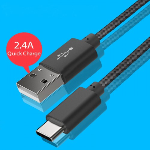 USB-C to USB-A cable Black Color