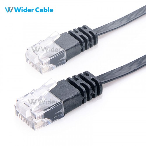 Super Flat CAT6 Ethernet Cable-Black Color Wholesales