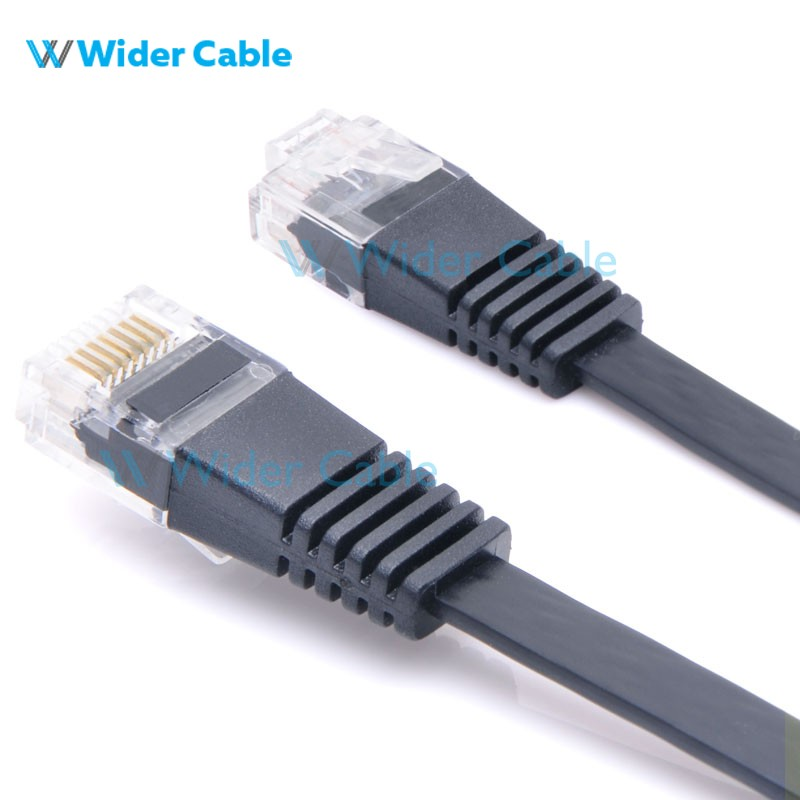 1.5Meter Flat CAT5e Ethernet Network Patch Cable Black Color