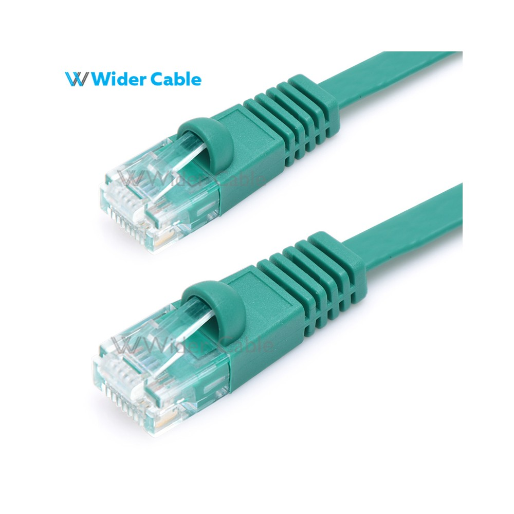 Snagless Flat CAT6 UTP 250MHz Bare Copper Ethernet Network Patch ...