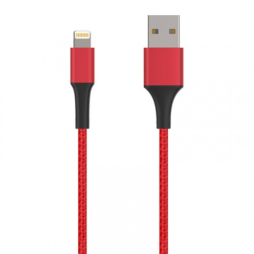 3FT(1meter)New iPhone Cable with Luxury Aluminum shell  Red Color