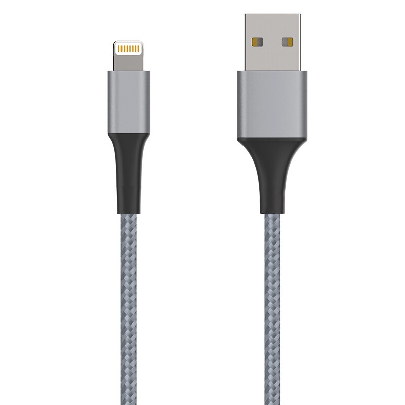 New iPhone Cable with Luxury Aluminum shell Grey Color