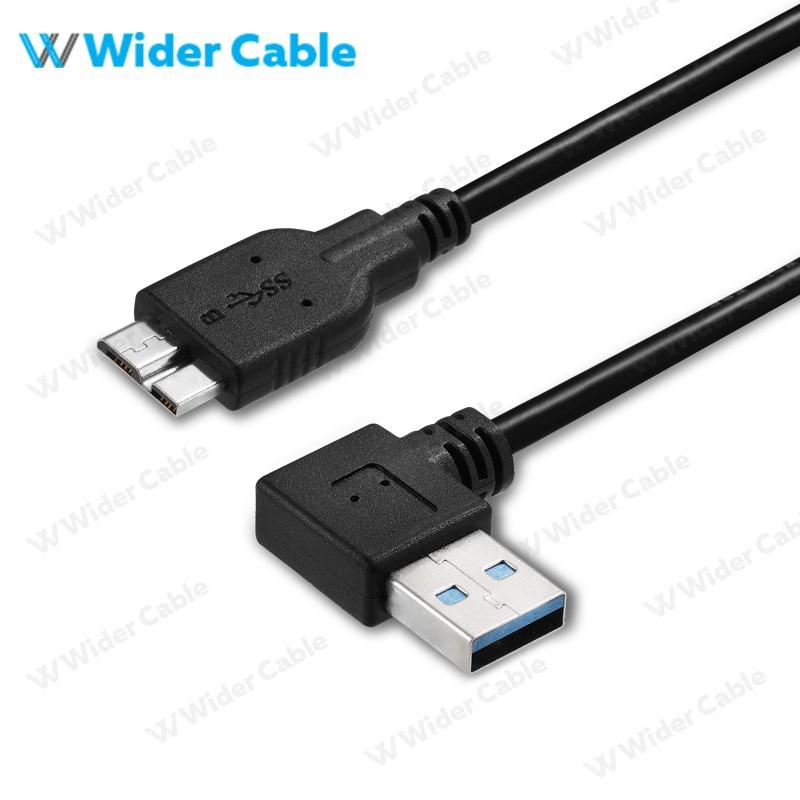 Micro10P USB 3.0 Cable 90degree Black Color