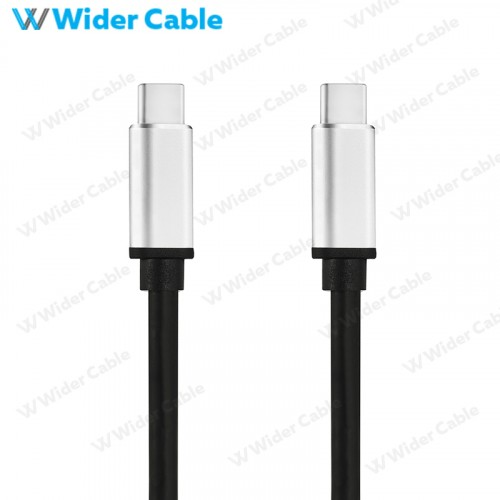 USB 3.1 Gen 2 USB C To C Cable With E-Maker Chip Aluminum Housing Black Color